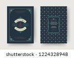christmas greeting card design... | Shutterstock .eps vector #1224328948