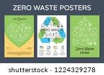 zero waste icon design banners. ... | Shutterstock .eps vector #1224329278