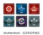 christmas sale web banners for... | Shutterstock .eps vector #1224329362