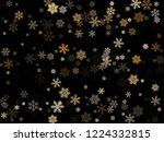 snow flakes falling macro... | Shutterstock .eps vector #1224332815