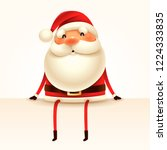 santa claus sits at the edge.... | Shutterstock .eps vector #1224333835