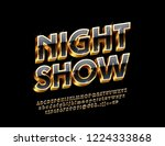 luxury logo with text night... | Shutterstock .eps vector #1224333868