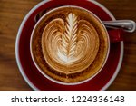 cappuccino cup in bali cafe | Shutterstock . vector #1224336148
