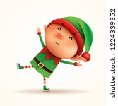 little elf skates. isolated. | Shutterstock .eps vector #1224339352