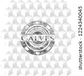calves grey emblem with... | Shutterstock .eps vector #1224340045