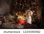 happy little smiling girl in... | Shutterstock . vector #1224340582