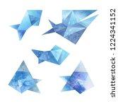 set of different fish.... | Shutterstock . vector #1224341152