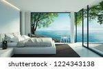 Beach Bedroom Interior   Moder...