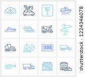 logistics icon set and...