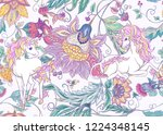 seamless pattern with stylized... | Shutterstock .eps vector #1224348145