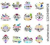 vlog and blog design concept...   Shutterstock .eps vector #1224348928