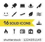 universal icons set with radio  ...