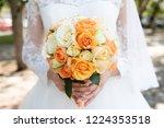 beautiful wedding bouquet of... | Shutterstock . vector #1224353518