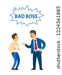 bad boss chief executive angry...   Shutterstock .eps vector #1224361885