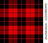 christmas and new year tartan... | Shutterstock .eps vector #1224380395