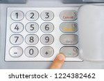 withdraw money from the bank | Shutterstock . vector #1224382462