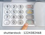 withdraw money from the bank | Shutterstock . vector #1224382468