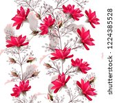 fashion vector pattern with...   Shutterstock .eps vector #1224385528