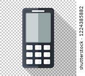 classic mobile phone icon in... | Shutterstock .eps vector #1224385882