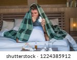 young sick wasted and exhausted ... | Shutterstock . vector #1224385912