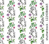 beautiful watercolor seamless... | Shutterstock . vector #1224386665