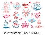 set of positive inspirational...   Shutterstock .eps vector #1224386812