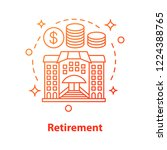 retirement concept icon. money... | Shutterstock .eps vector #1224388765