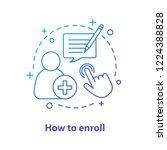 Enroll Now Concept Icon....