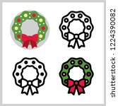 outline icons of christmas...   Shutterstock .eps vector #1224390082