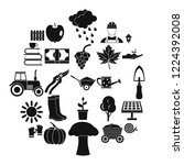 ranch icons set. simple set of...   Shutterstock .eps vector #1224392008