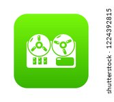 reel tape recorder icon green... | Shutterstock .eps vector #1224392815