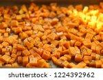 sliced butternut squash... | Shutterstock . vector #1224392962