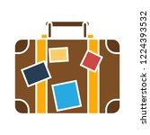 vector travel case icon. flat... | Shutterstock .eps vector #1224393532