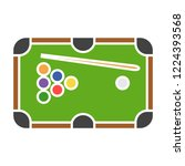 vector pool table icon. flat... | Shutterstock .eps vector #1224393568