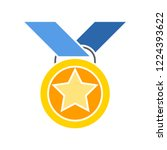vector medal. flat illustration ... | Shutterstock .eps vector #1224393622