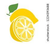 vector lemon icon. flat... | Shutterstock .eps vector #1224393688