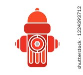 vector fire hydrant icon. flat... | Shutterstock .eps vector #1224393712