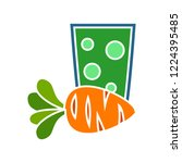 vector carrot juice icon. flat... | Shutterstock .eps vector #1224395485