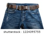 blue jeans with rock style... | Shutterstock . vector #1224395755