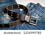 blue jeans with rock style... | Shutterstock . vector #1224395785