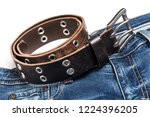 blue jeans with rock style... | Shutterstock . vector #1224396205