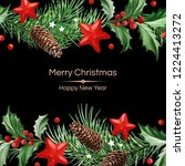 frame with text and christmas... | Shutterstock .eps vector #1224413272
