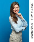 thinking positive business... | Shutterstock . vector #1224413458