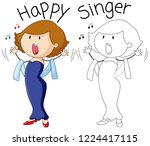 opera singer in color and... | Shutterstock .eps vector #1224417115