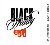 vector black friday with red... | Shutterstock .eps vector #1224418885