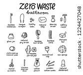 zero waste. bathroom products... | Shutterstock .eps vector #1224427048