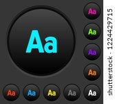 font size dark push buttons... | Shutterstock .eps vector #1224429715