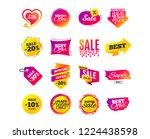 sale banner templates design.... | Shutterstock .eps vector #1224438598