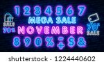 neon symbol for november  ... | Shutterstock .eps vector #1224440602
