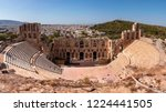 old amphitheater building... | Shutterstock . vector #1224441505